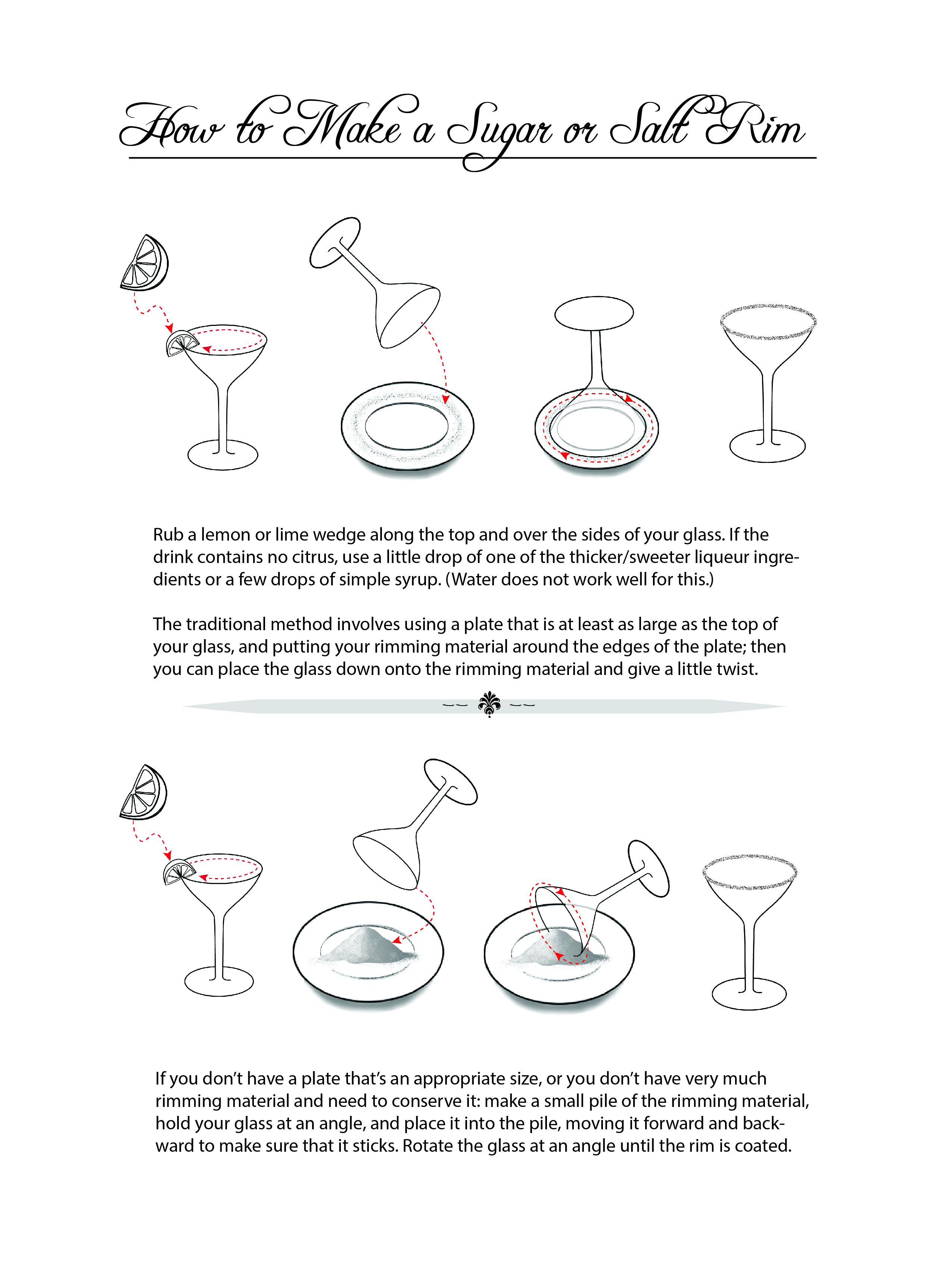 How to Make a Sugar or Salt Rim