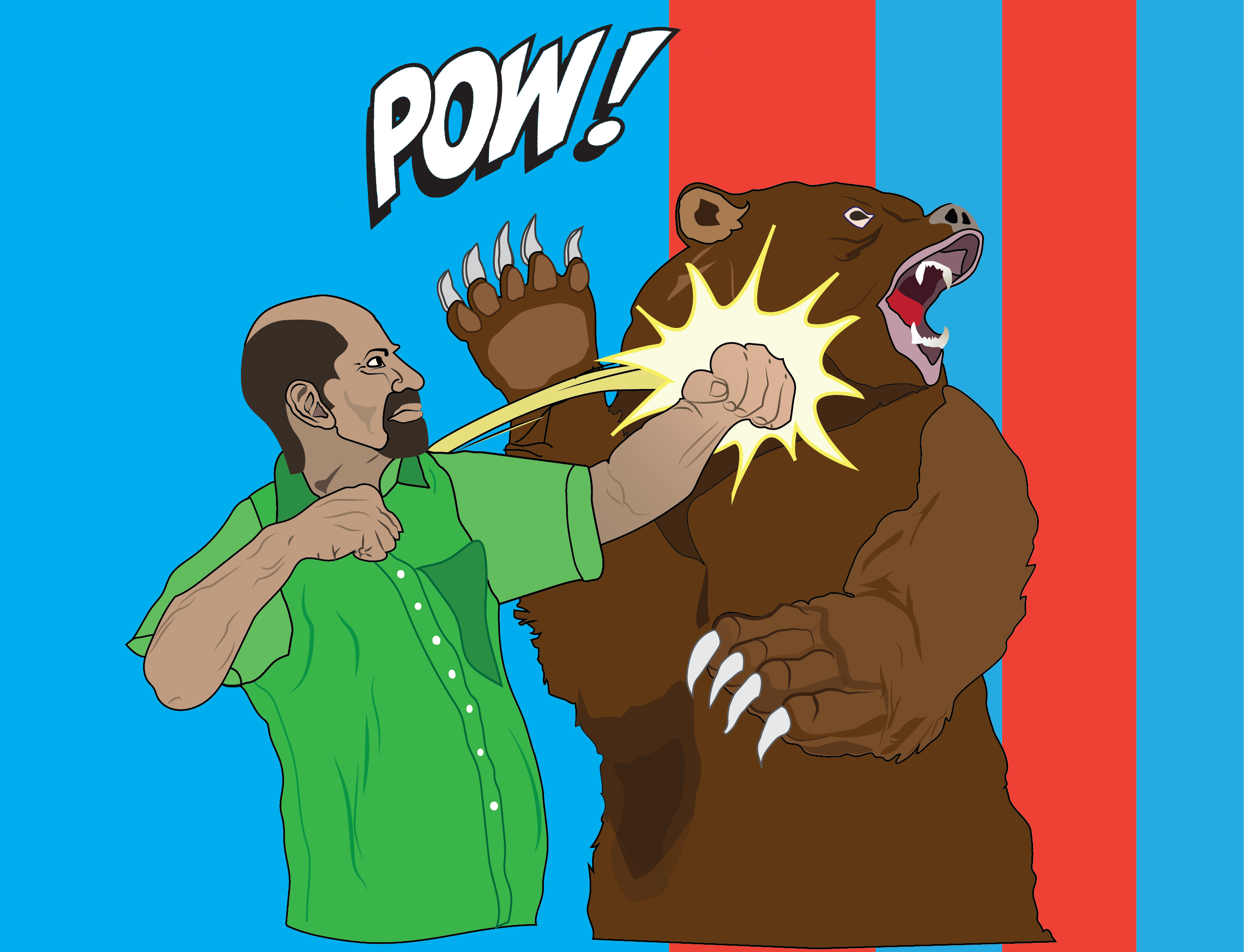 Dad Fights Bear