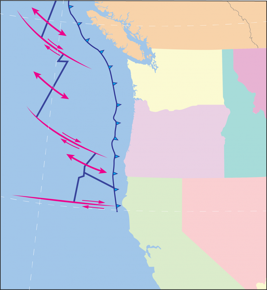 juan de fuca subduction